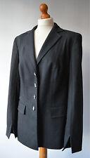 Damas Chaqueta Blazer de lana Escada Gris Talla 14 EUR 40 UK