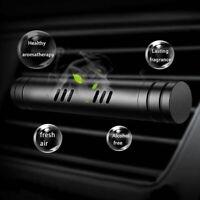 Car Air Vent Clip Freshener Perfume Diffuser PLUS 4 Aroma Fragrance Sticks BLACK