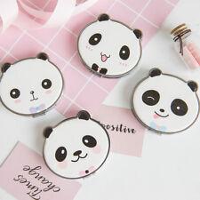 Girls Cute Panda Print Round Folding Mini Pocket Makeup Mirror Double-Sided