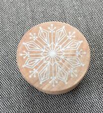 snowflake rubber Stamp, New, 1� Diameter