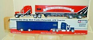 1991 SpecCast Featherlite Die Cast Peterbilt Semi Truck Tractor Trailer 1/64