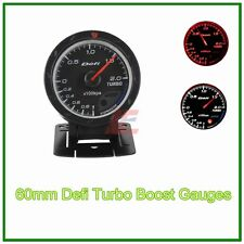 60mm def advanced turbo boost gauge Amber red/ white lights black face auto met