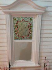 Mosaic Motif Dollhouse Miniature Victorian  Stained Glass Window Film