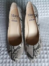 Gorgeous Leather Snakeskin Shoes by Mary for Clarks size 5 BNWOT