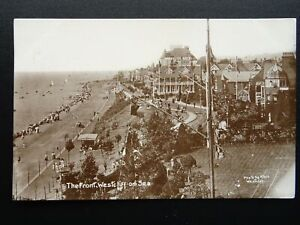 Essex WESTCLIFF ON SEA The Front SIGNAL MAST & OVERCLIFF HOTELc1911 RP Postcard