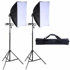 2 Pcs Lighting Softbox Stand Photography Photo Equipment Soft Studio Light Kit