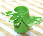 Vintage TUPPERWARE 6 Pc Apple Green Measuring Cups 1/4 Cup -1 Cup #761- #766