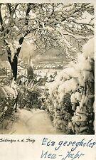 (466) Ansichtskarte 73312 GEISLINGEN Steige Schneekarte Neujahrkarte