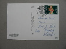ANORRA, PPC to Germany 1973, single franking Europe CEPT 8 Ptas