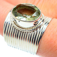 Large Green Amethyst 925 Sterling Silver Ring Size 9 Ana Co Jewelry R52136F
