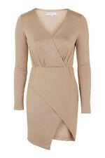 Petite Long Sleeve Wrap Dresses for Women