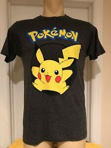 New Pokemon Mens T-shirt Small Gray