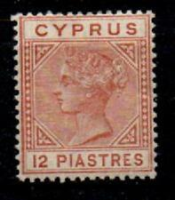 CYPRUS SG22 1882 12pi ORANGE-BROWN DIE I MTD MINT