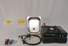 Miniküche Campingküche Küchenblock Bausatz Technikpaket + Gaskocher komplett