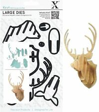 DOCRAFTS XCUT LARGE CUTTING DIE SET STAG HEAD 8 DIES UNIVERSAL FIT - NEW