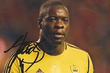ANZHI MAKHACHKALA: CHRISTOPHER SAMBA SIGNED 6x4 ACTION PHOTO+COA