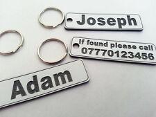 Personalised Engraved Keyring NAME ADDRESS LOST KEYS HOTEL IDENTITY PET TAG CAR