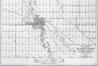 1920 Grand Forks North Dakota Map Minnesota RED RIVER SURVEY Railroads ORIGINAL