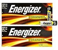 48 Energizer AAA Industrial Alkaline Batteries (EN92, LR03, 1.5V) EXP 2028