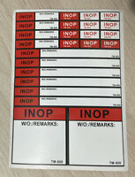 Sticker Sheet AIRBUS INOP inoperative unserviceable tag for pilots