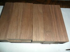 "2 BLACK WALNUT KNIFE BLOCKS,SCALES. 1"" X 1-1/2"" X 6"" ( 2 BLOCKS) KILN DRIED"