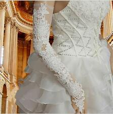 White Lace Long Bridal Gloves Fingerless Wedding Gloves For Bride Bride Gloves