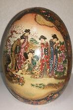 """Porcelain Egg Satsuma Approximately 6.5 """" High"""