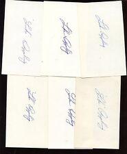 Six Luke Appling Autographed Index Cards (6) Hologram