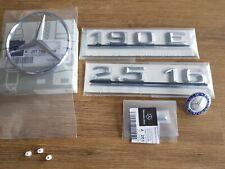 Mercedes-Benz W201 190E 2.5-16 Rear badge Trunk logo emblem set Genuine