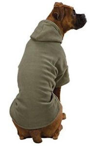 *NEW Casual Canine Basic Fleece Hoodie Chive Green For Teacup Size Dogs XXS