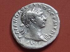 New listing Trajan A.D.98-117 - Silver Denarius. Rev-Aequitas standing left. Vf/aVf