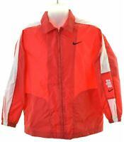 NIKE Girls Raincoat 14-15 Years Large Red Nylon  HY10