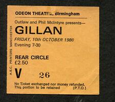 Original 1979 Ian Gillan from Deep Purple Concert Ticket Stub Birmingham UK