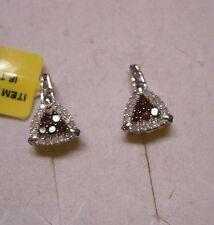 Red & White Diamond Earrings  42 diamonds  .40tcw  MSRP$774
