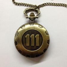 Fallout 4 Fashion Creative Bronze Pocket Watch Chain Pendant Time Neckage