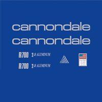 Cannondale R700 Cuadro de Bicicleta Adhesivos-DECALS-Transfers: PLATA N.1
