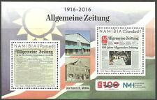 Namibie - 100 Jahre Général Journal Bloc 90 menthe 2016 Mi. 1531-1532