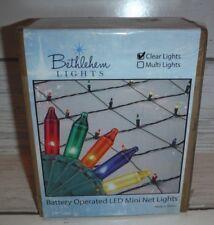 "2 Bethlehem Lights 56"" x 42"" Christmas Net Light with 42 Clear Mini LEDs"