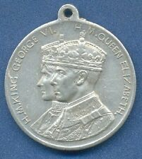 *GEORGE VI King & Queen ELIZABETH Coronation UNITED KINGDOM 1937 ALUMINIUM Medal