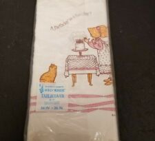 Vtg Sealed American Greetings Paper Tablecover Holly Hobbie 54`x 96`
