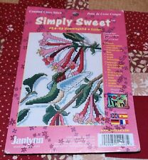 Janlynn Counted Cross Stitch Kit Hummingbird Floral Simply Sweet No 54-93
