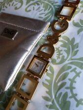 DOLCE&GABBANA Uhr Armbanduhr D&G TIME Strass Damen Gold Night&Day DW0029 WIE NEU