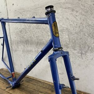 "Vintage Trek MTB Frame Set Early 80s Lugged 830 Steel 21.5"" Mountain Made in USA"