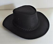 Vintage Henschel Black Leather Western Hat With Band
