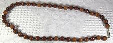 """New - Polished Brown Wood Beaded 23"""" necklace - nwot"""