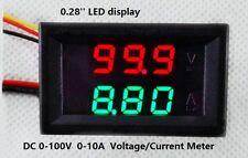 DC 0-100V 0-10A pantalla LED Digital Medidor de Voltaje de Corriente Multímetro 10A actual