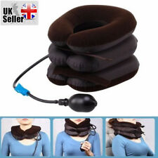UK Neck Head Pain Traction Support Brace Device Air Inflatable Pillow Cervical