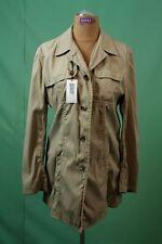 Orig DKNY Mantel Jacke beige Damen Designer Gr 8 Baumwolle & Nylon