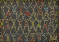 Crypton® Architex Jump For Joy Dance Contemporary People Blue Upholstery Fabric