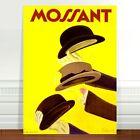"Stunning Vintage Fashion Poster Art ~ CANVAS PRINT 24x18"" ~ Mossant hats"